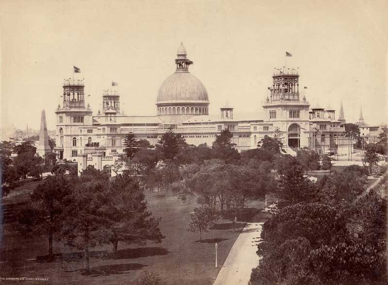The Garden Palace, Sydney, NSW, 1880. Image: NSW State Library collection. Reproduction: Peter de Waal
