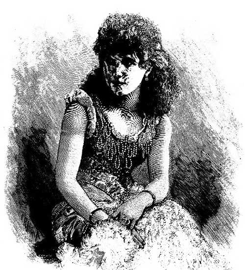 """Miss Carrie Swain. Now performing in the 'Miner's Daughter' at the Criterion Theatre."" Image: Illustrated Sydney News, Mon 16 May 1887, p. 1. Reproduction: Peter de Waal"