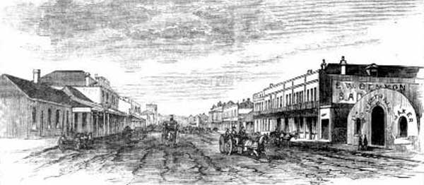 Auburn Street, Goulburn. Image: The Sydney Mail and NSW Advertiser, Sat 4 Feb 1882, p. 181. Reproduction: Peter de Waal